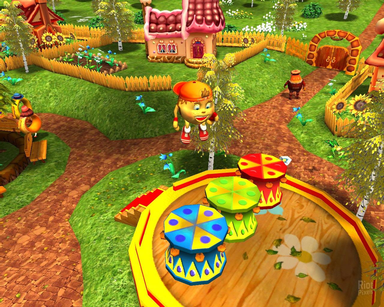 Колобок: Портальное приключение - онлайн игра на yayoye.