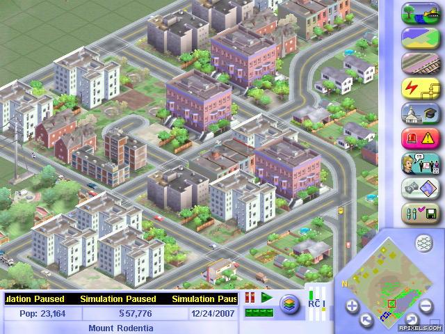 SimCity 3000 - game screenshots at Riot Pixels, images