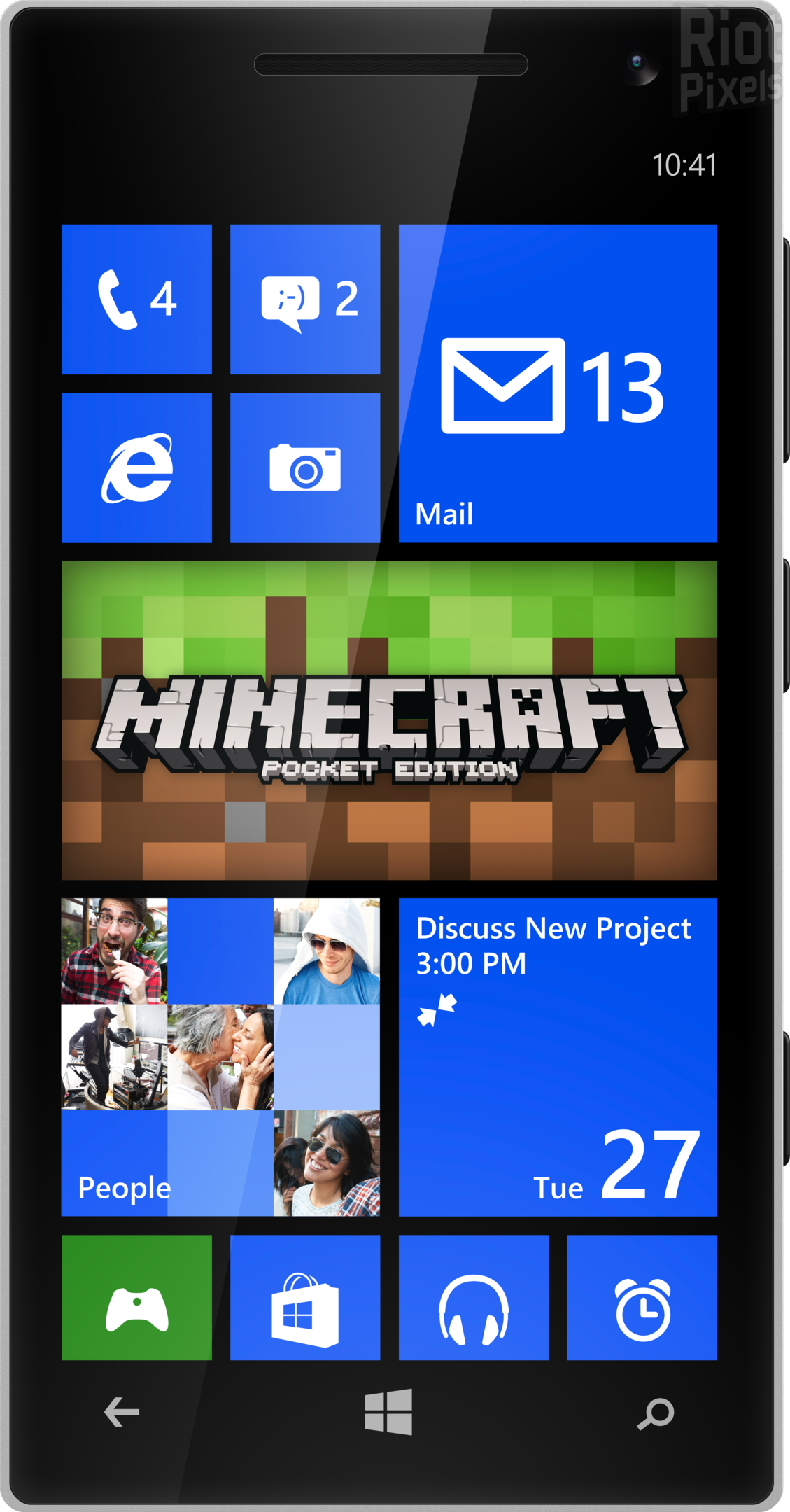 Minecraft Pocket Edition вышел на Windows Phone!