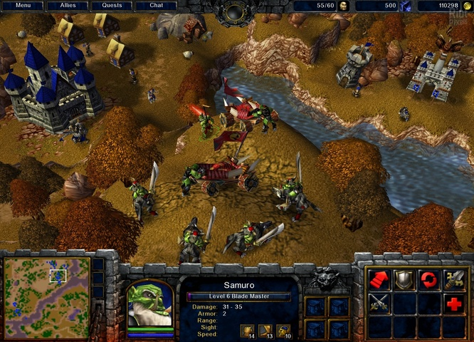 Warcraft 3: Reign of Chaos - game screenshots at Riot Pixels, images