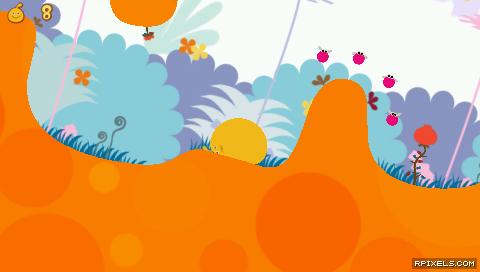 LocoRoco - game screenshots at Riot Pixels, images