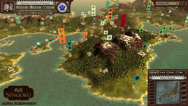 Sengoku [II/2011] - game screenshots at Riot Pixels, images