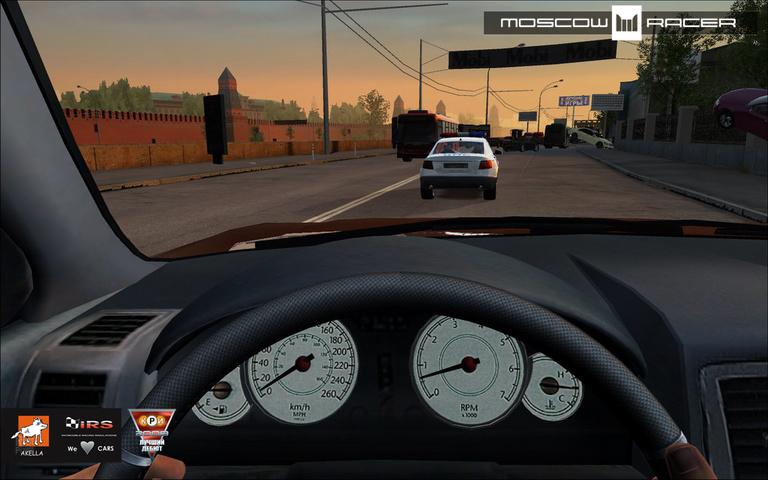 Текущий показываемый скриншот из игры strong em Moscow Racer/em/strong под