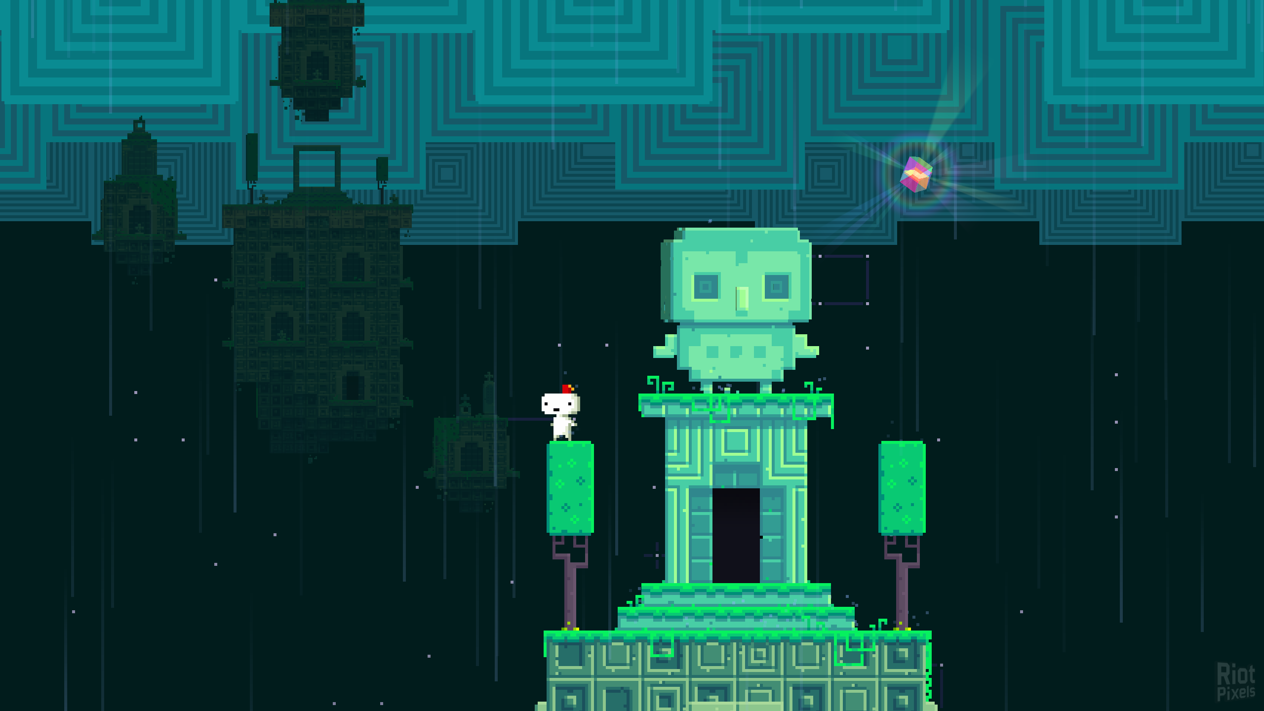 fez - game screenshot at riot pixels
