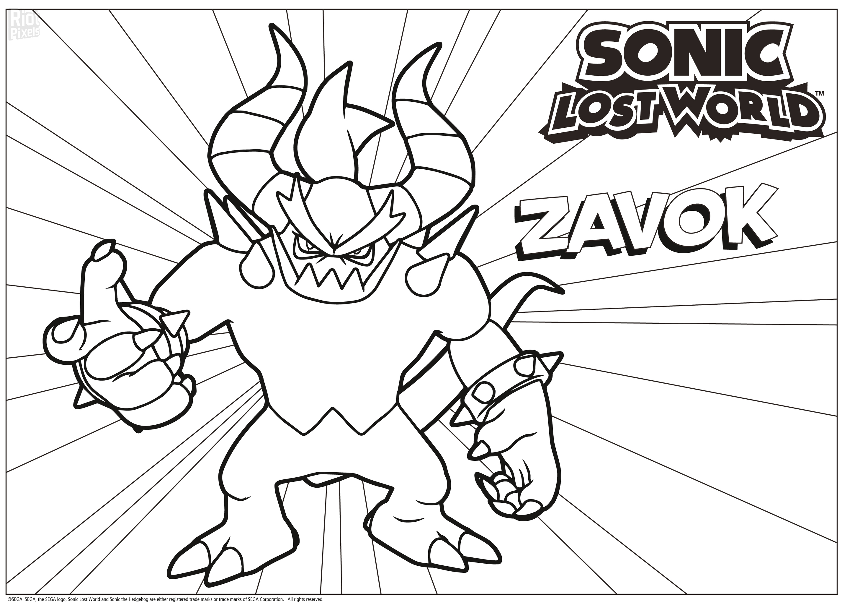 Sonic: Lost World - game artworks at Riot Pixels