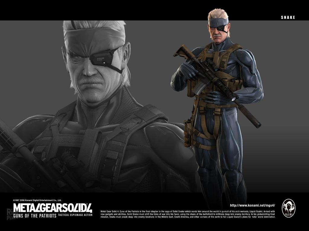 Обои metal gear solid 4: guns of the patriots, solid snake, konami. Игры foto 10