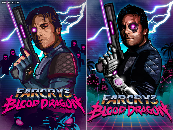 Far Cry 3 Blood Dragon Game Artworks At Riot Pixels