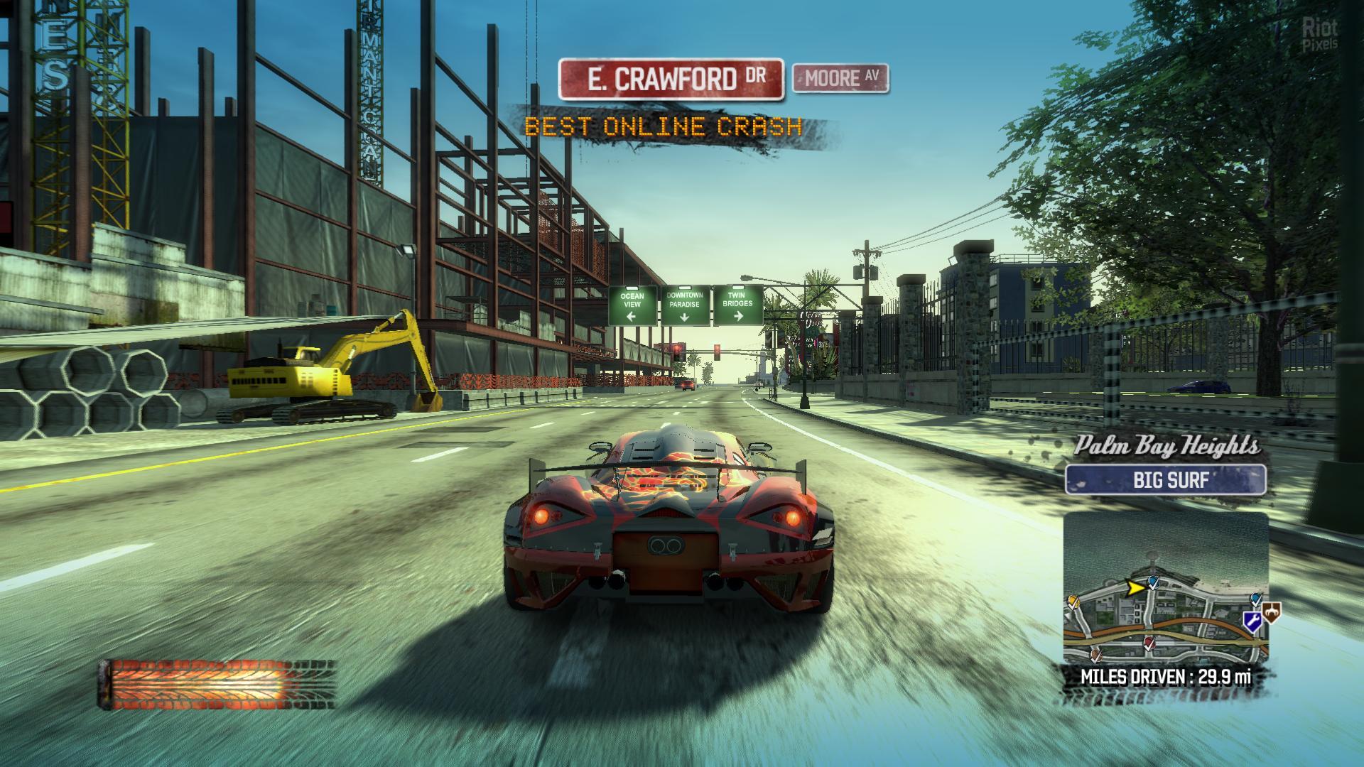 Burnout Paradise - game screenshots at Riot Pixels, images