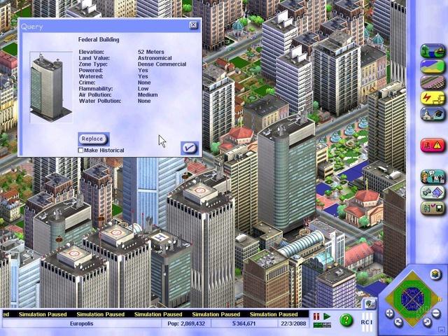 SimCity 3000 Unlimited - game screenshots at Riot Pixels, images