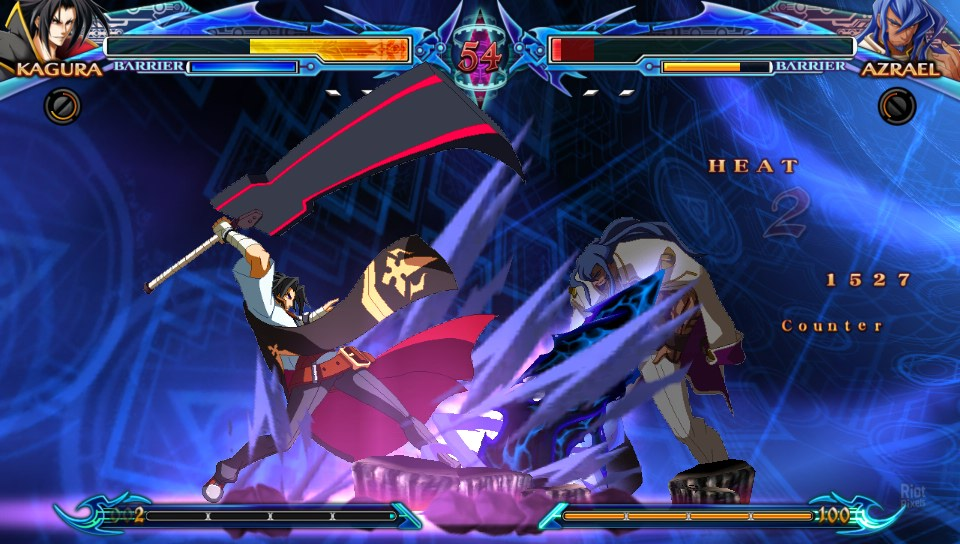 Blazblue ragna and celica