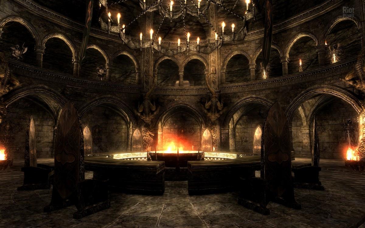 Интерьер средневековый замок фото