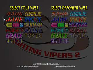 Fighting Vipers 2 - game screenshots at Riot Pixels, images