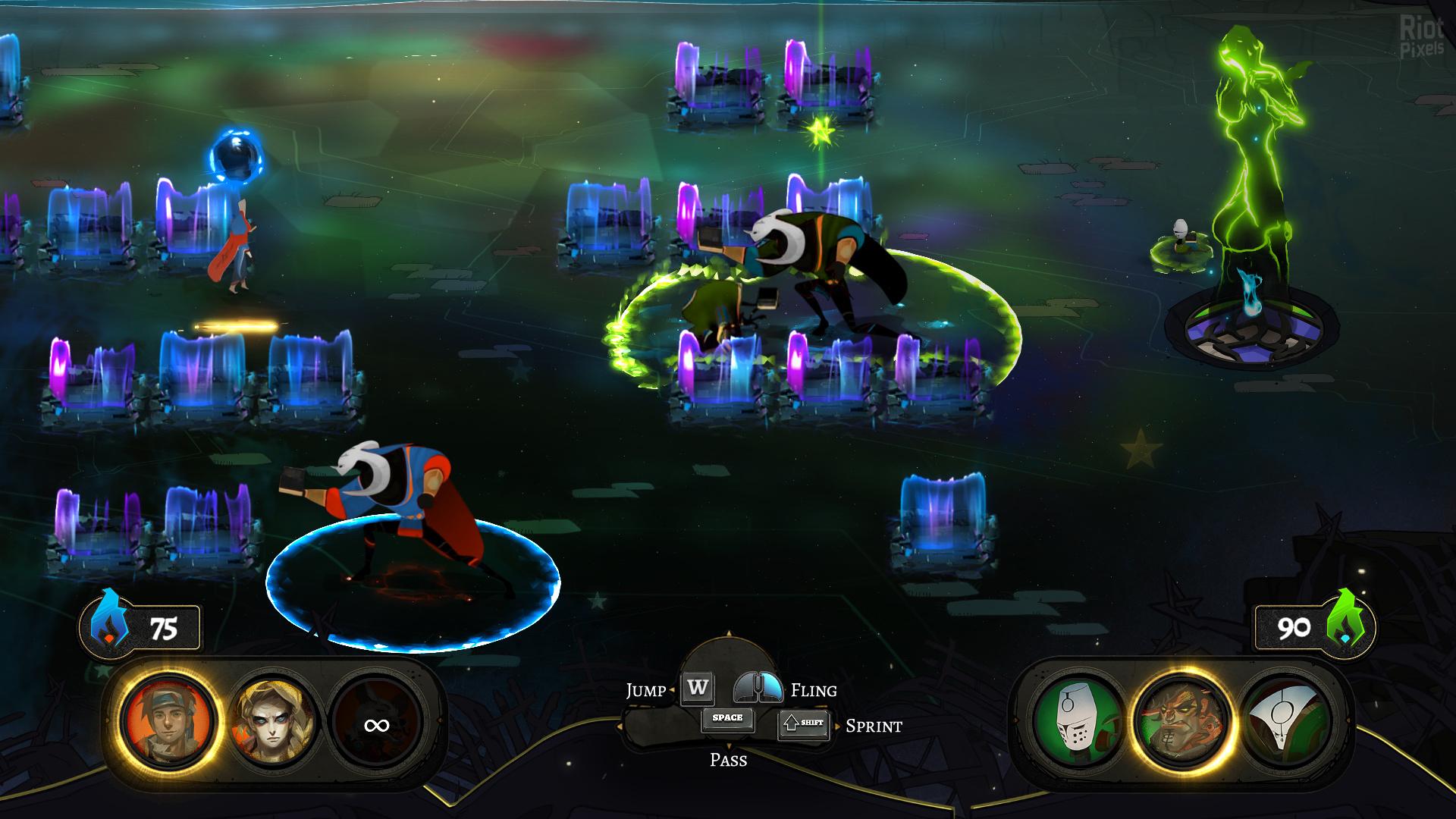 Pyre - game screenshots at Riot Pixels, images