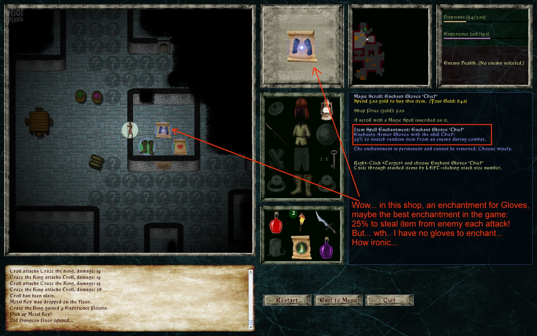Lord of the Dark Castle - game screenshots at Riot Pixels, images