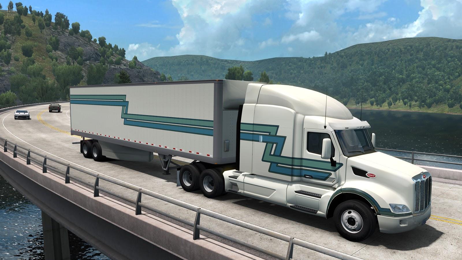 تحميل لعبة american truck simulator 2018