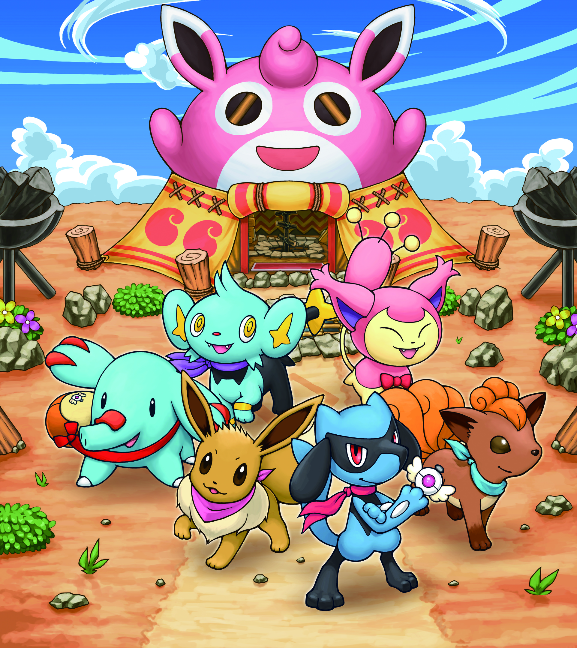 Pokemon Mystery Dungeon Explorers Of Sky Game Artworks At Riot